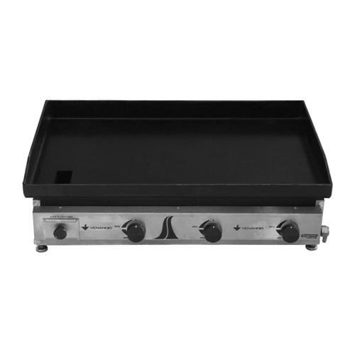 Chapa Venâncio C80 Inox Escovado Gás GLP Baixa Pressão
