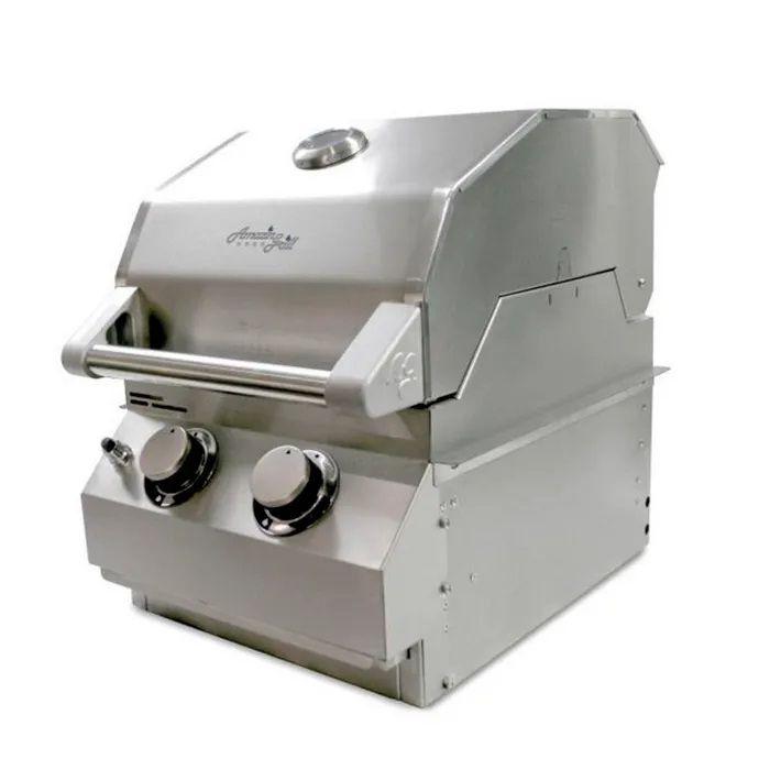 Churrasqueira Amazingrill AG2A Gás 2 Queimadores Aço Inox 304
