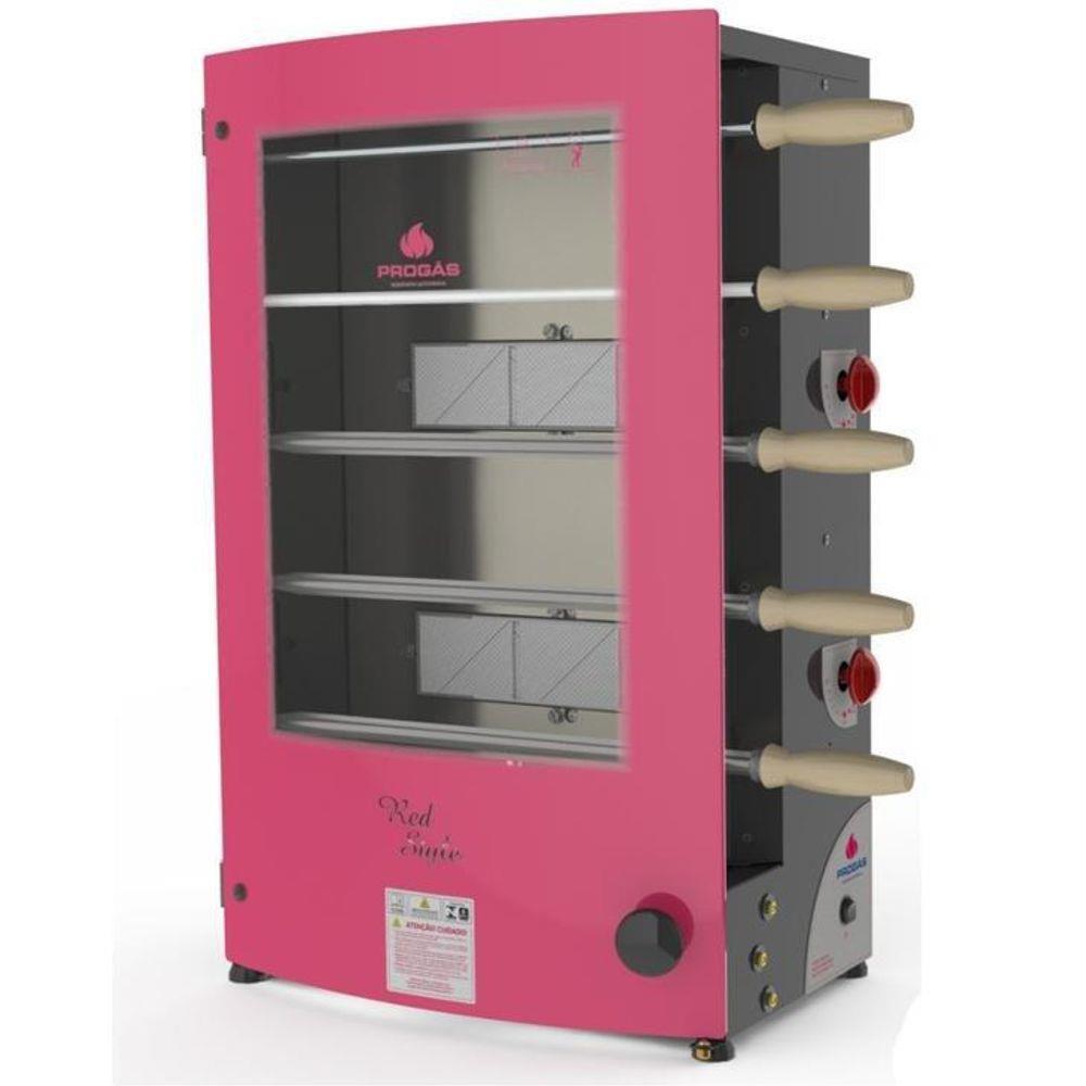 Churrasqueira Rotativa 5 Espetos Gás GLP Baixa Pressão Inox Style PRR-051E Progás