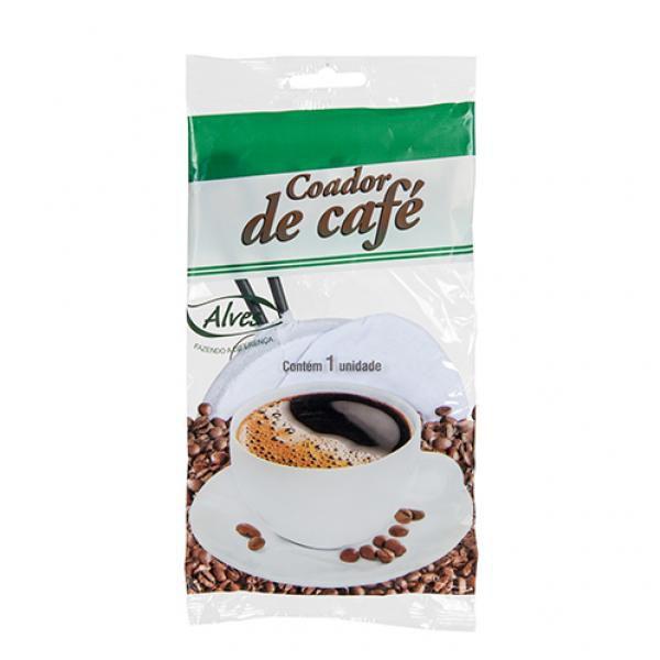 Coador Reutilizável Em Técido Para Café Pequeno Alves Plast 09x18x15