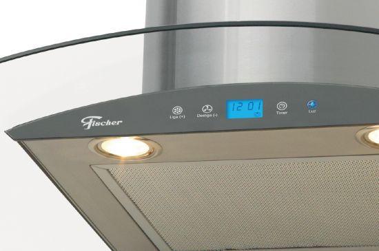 Coifa Fischer De Parede Talent Touch 60cm Vidro Digital