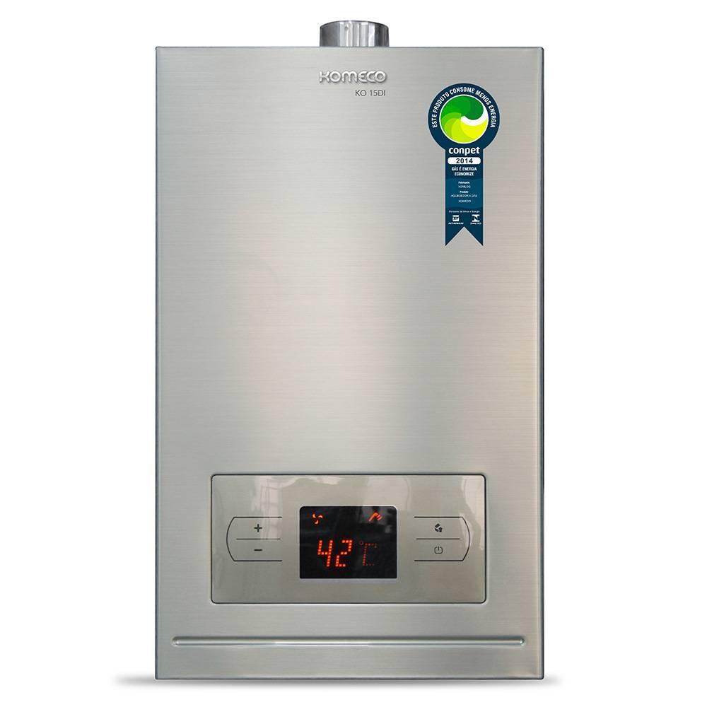 Aquecedor de Água a Gás Komeco Digital Inox 15 Litros/min KO 15DI GN