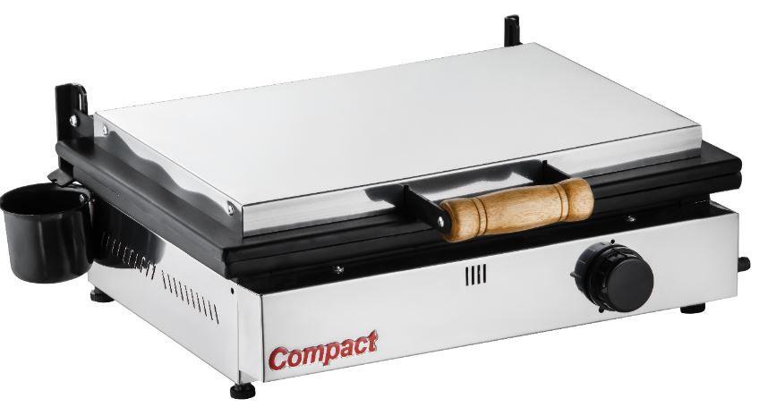 Chapa Sanduicheira Prensa Gás GLP 1 Queimador Baixa Pressão SG-45 Cold Compact