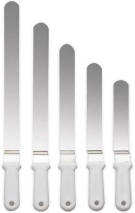 Espátula Dobrada Flexível Em Inox Para Confeitar 28x05cm SOLRAC