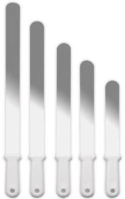 Espátula Reta Flexível Em Inox Para Confeitar 25x05cm SOLRAC