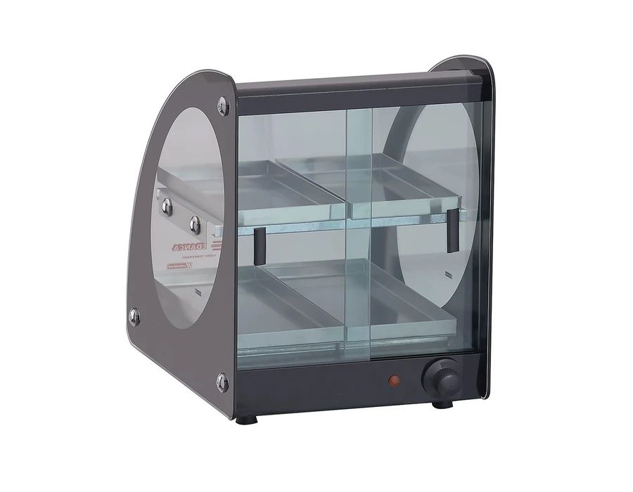 Estufa Térmica Quente Master 4 Bandejas Alumínio Vidro Curvo 220V EAMD-04 Edanca