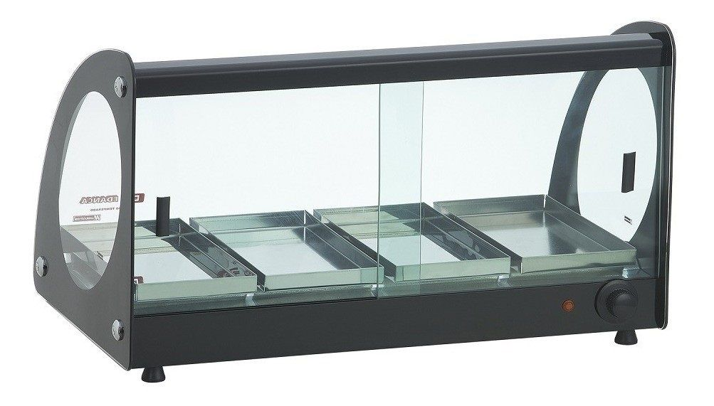 Estufa Térmica Quente Master 4 Bandejas Alumínio Vidro Curvo 220V EAM-04 Edanca