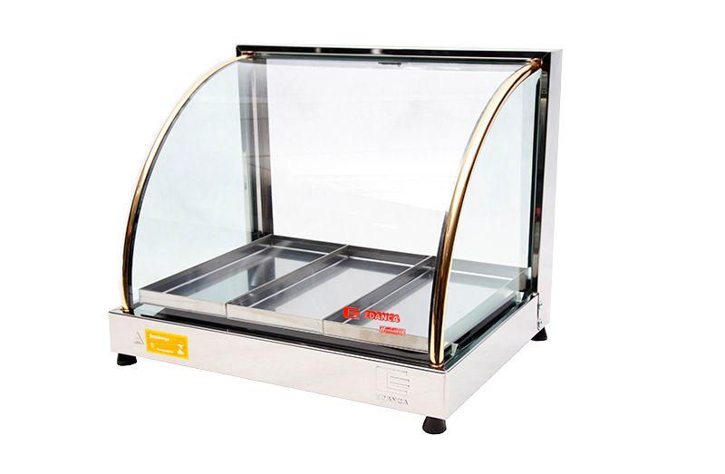 Estufa Térmica Ouro 3 Bandejas Em Alumínio Vidro Curvo 220V EO-03 Edanca