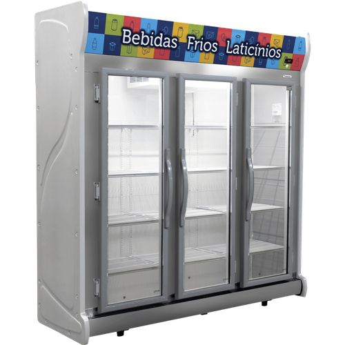Expositor de Bebidas e Frios Fricon ACFM1450 Cinza Frost Free 1450 Litros 220V