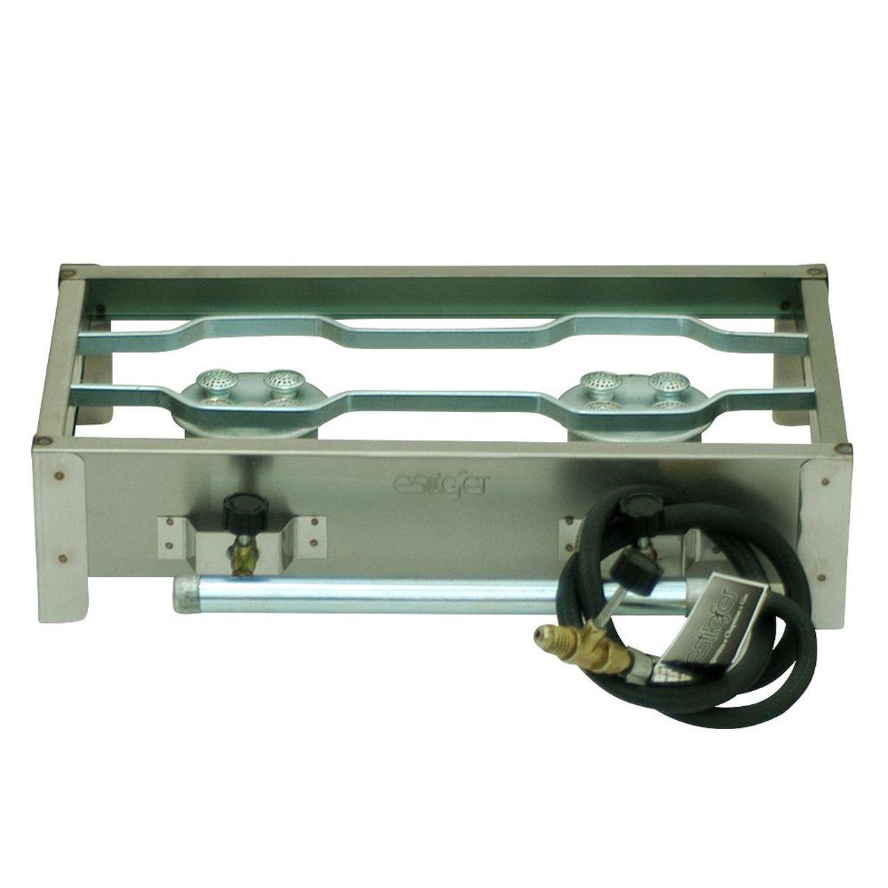 Fogão Estilofer 2 Queimadores Inox Alta Pressão Gás GLP