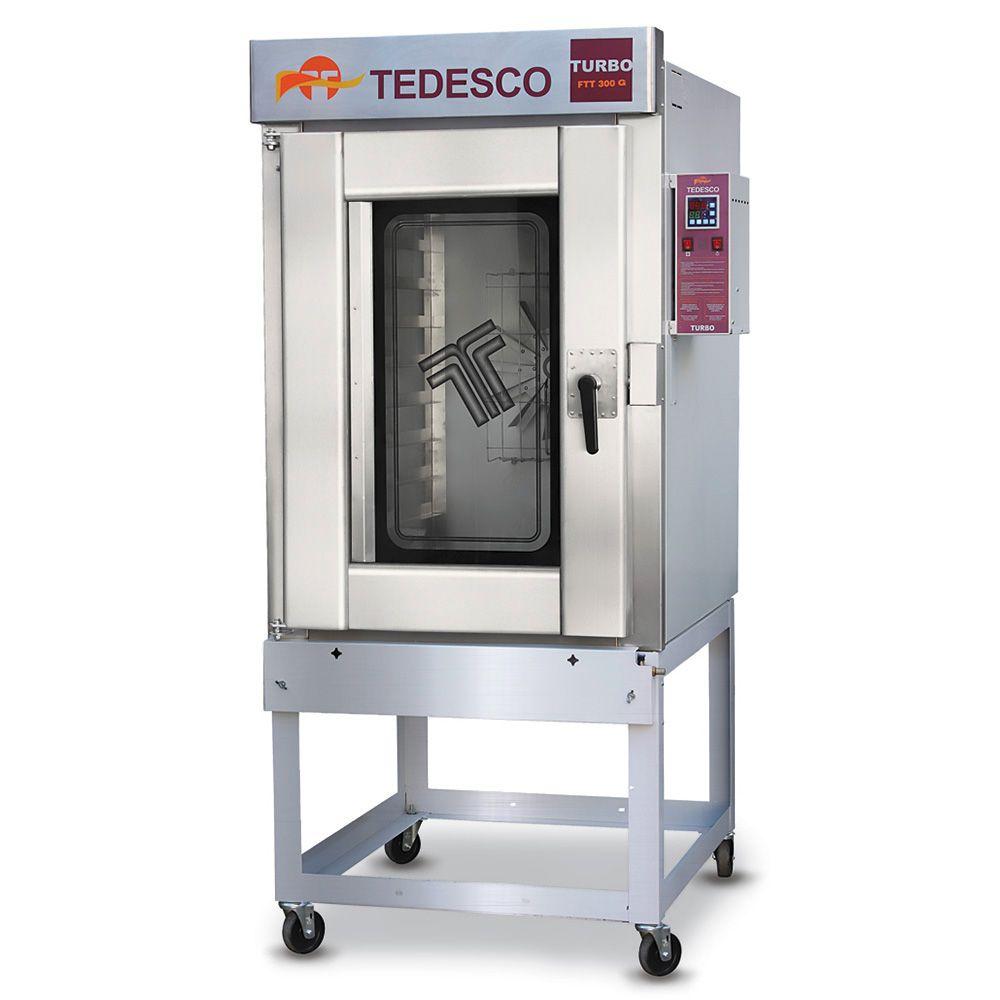 Forno Industrial Tedesco Turbo FTT-300G 10 Telas Gás GLP