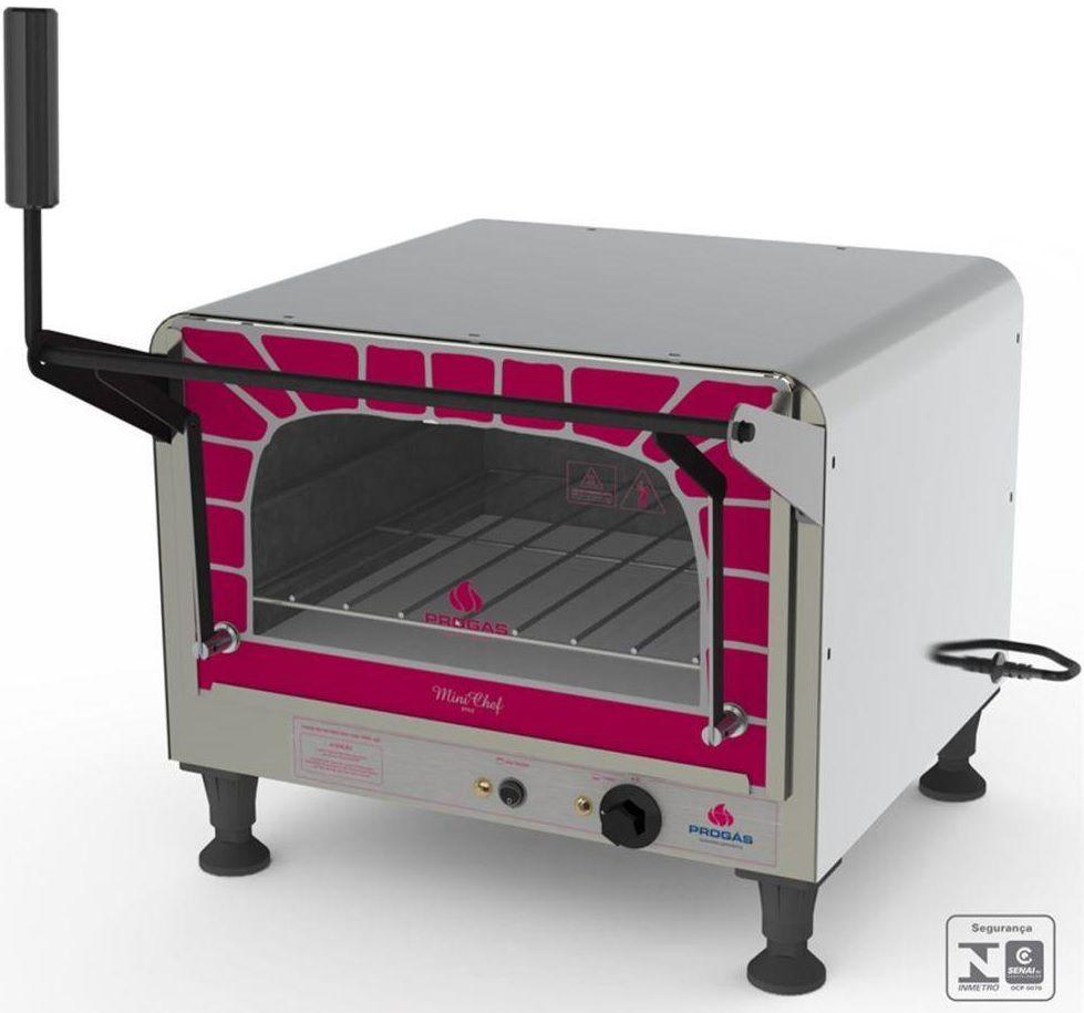 Forno Mini Chef Elétrico Inox 40 Litros 220V PRPE-400 ST Progás