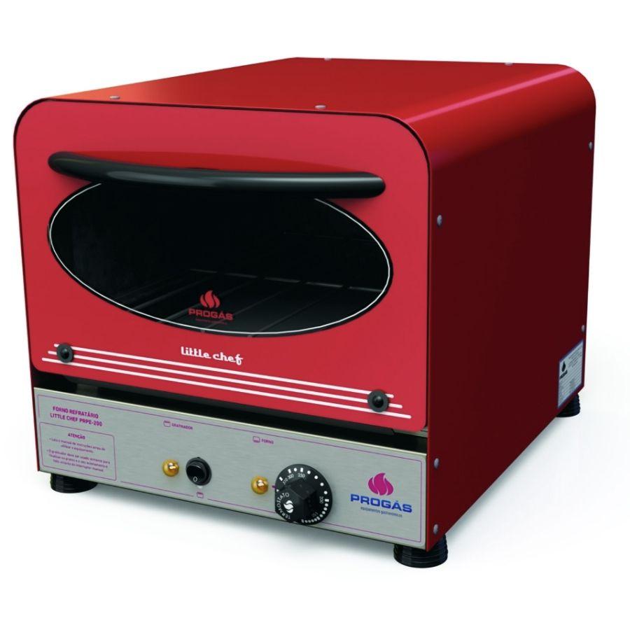 Forno Progás Elétrico Little Chef PRPE-200 Vermelho 220V