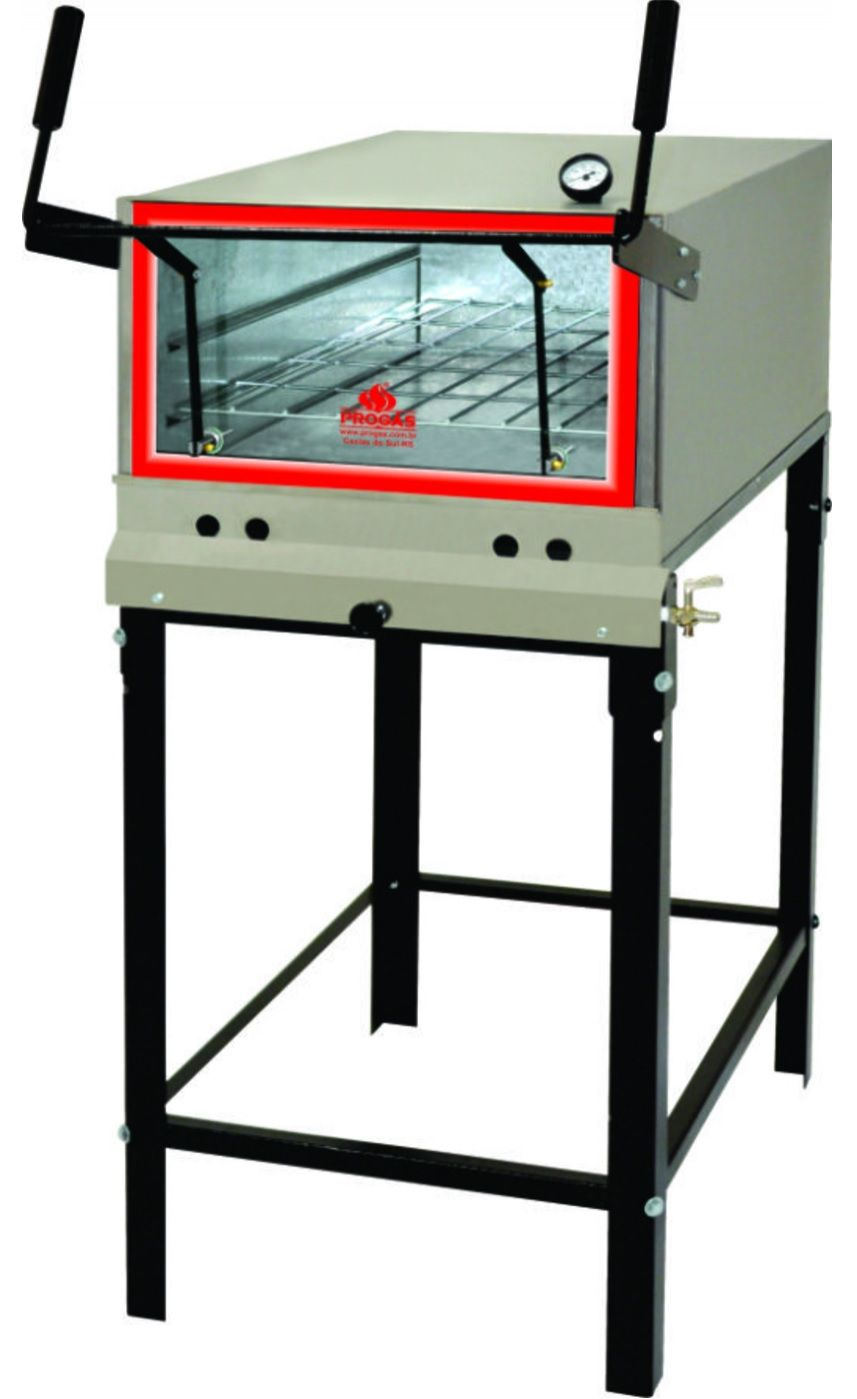 Forno Industrial Baixa Pressão Gás GLP Inox PRP-800S/KG Progás