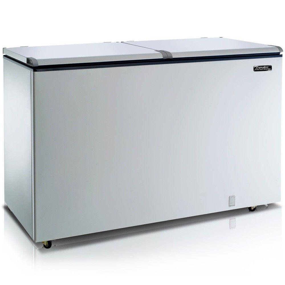 Freezer Horizontal Esmaltec EFH500 2 Portas Branco 439 Litros