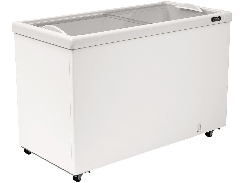 Freezer Horizontal Esmaltec AF400 2 Portas Tampa de Vidro Branco 366 Litros 220V