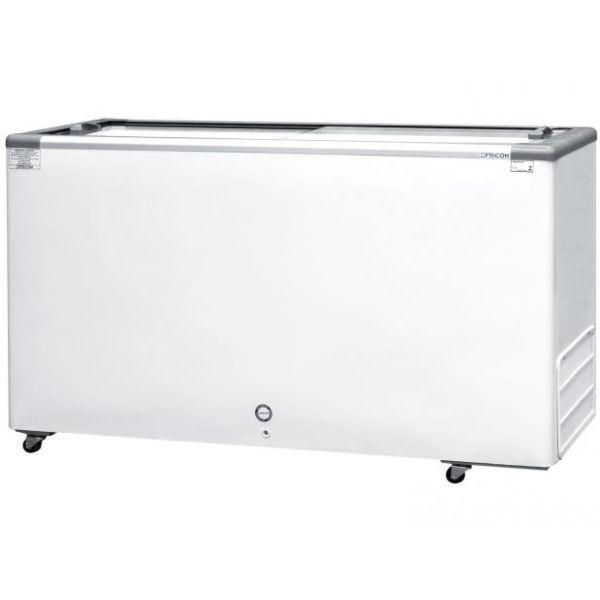 Freezer Horizontal Fricon Branco 2 Tampas Vidro Dupla Ação 503 Litros 220v