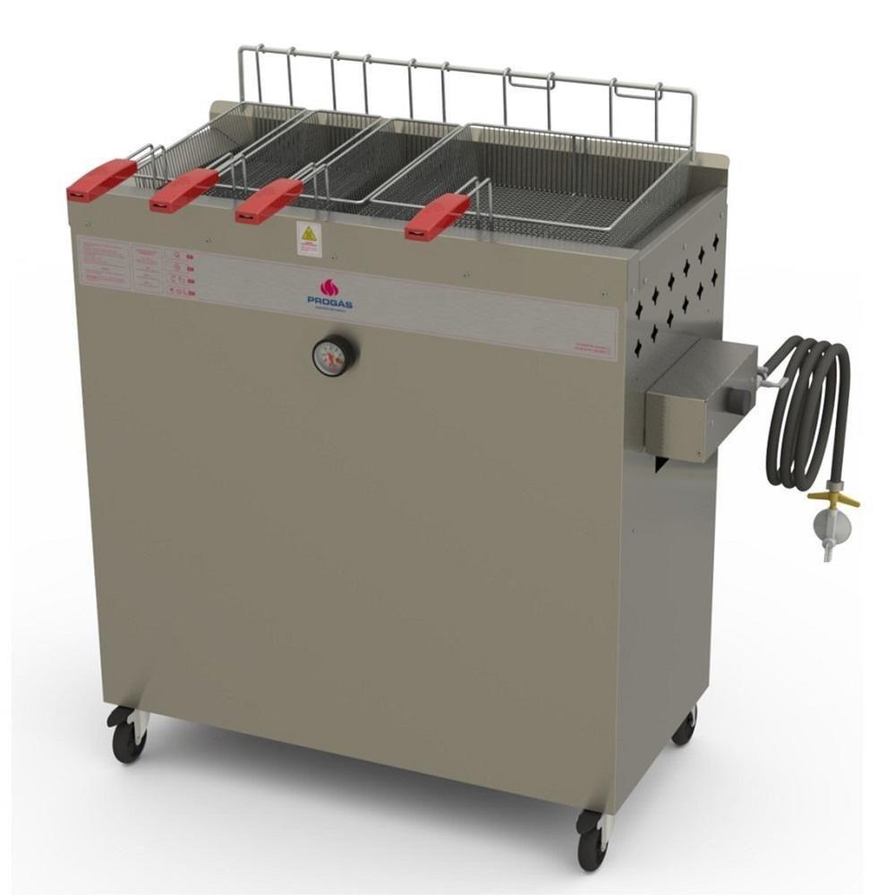 Fritadeira Comercial Inox Gás GLP 30 Litros INMETRO Água & Óleo Style PR-3000 BPG Progás