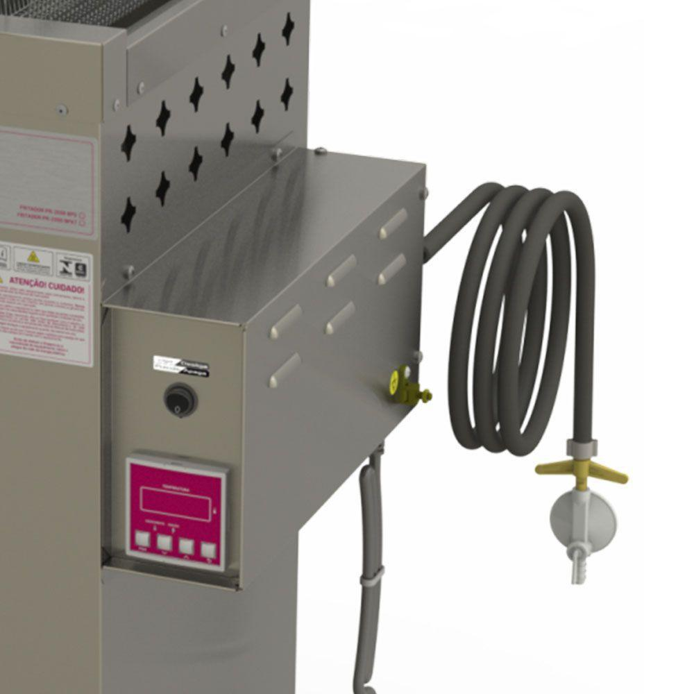 Fritadeira Elétrica Comercial Inox 220V 20 Litros INMETRO Água & Óleo Style PR-2000 BPAT Progás