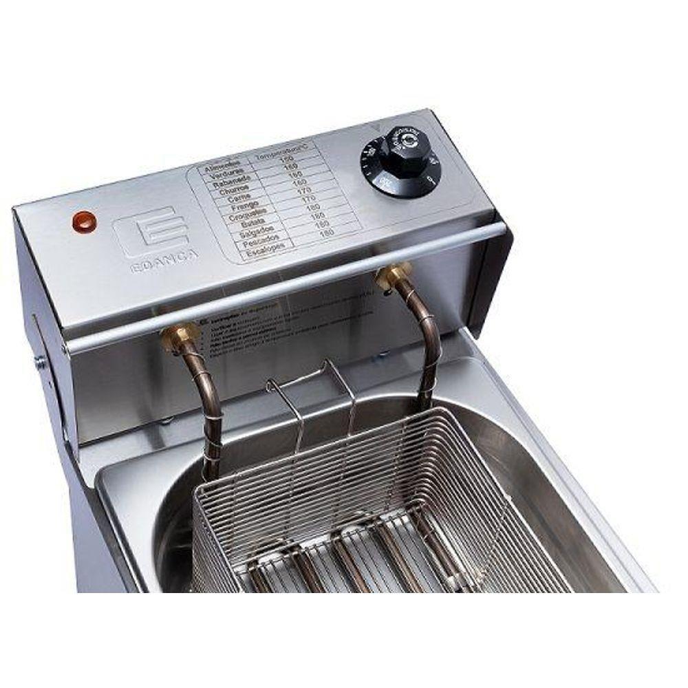 Fritadeira Elétrica Comercial Inox 220V 5 Litros INMETRO Óleo FE-05 Edanca