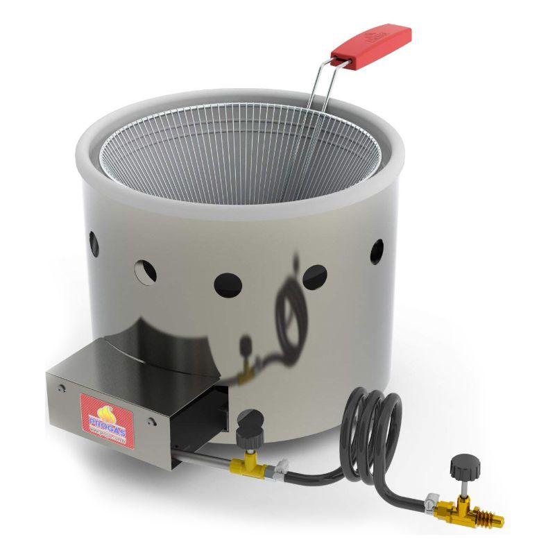 Fritadeira Tacho Progás 3 Litros à Gás GLP Alta Pressão Inox PR310G