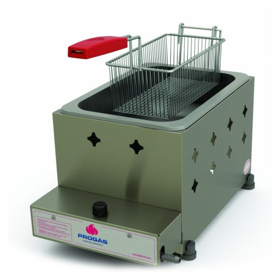 Fritador a Gás Progás Inox 5 Litros com 1 Cesto PR-10G