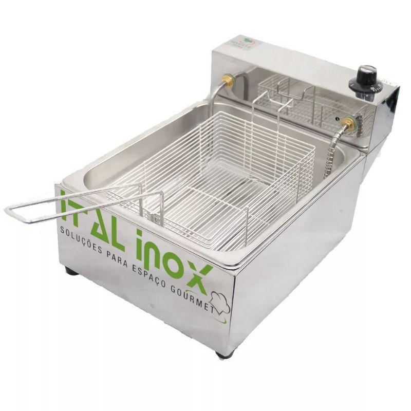 Fritador Elétrico Ital Inox 5 Litros 1 Cuba 220V