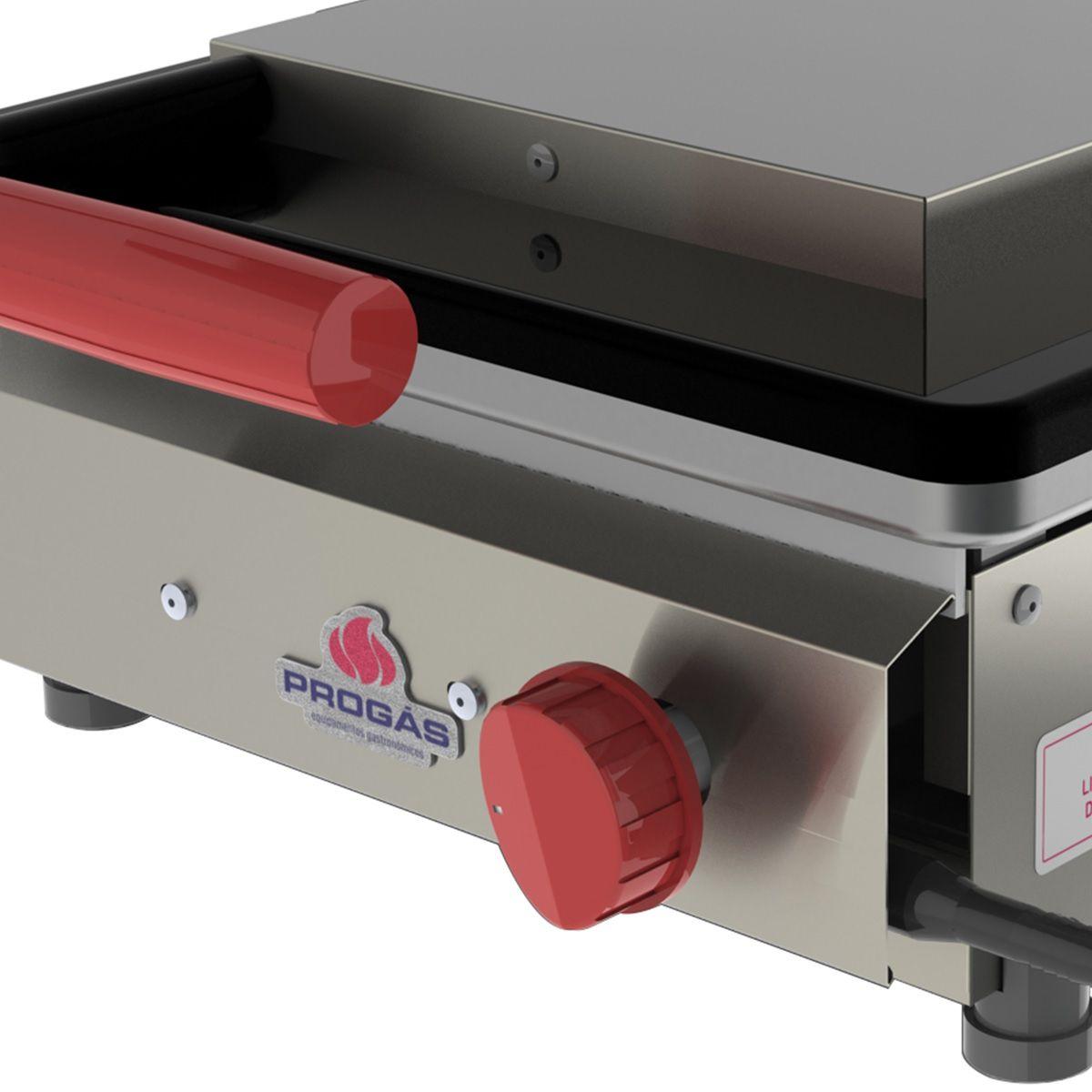 Grill Inox Gás GLP Baixa Pressão 1 Prensa Style PR-350 G Progás