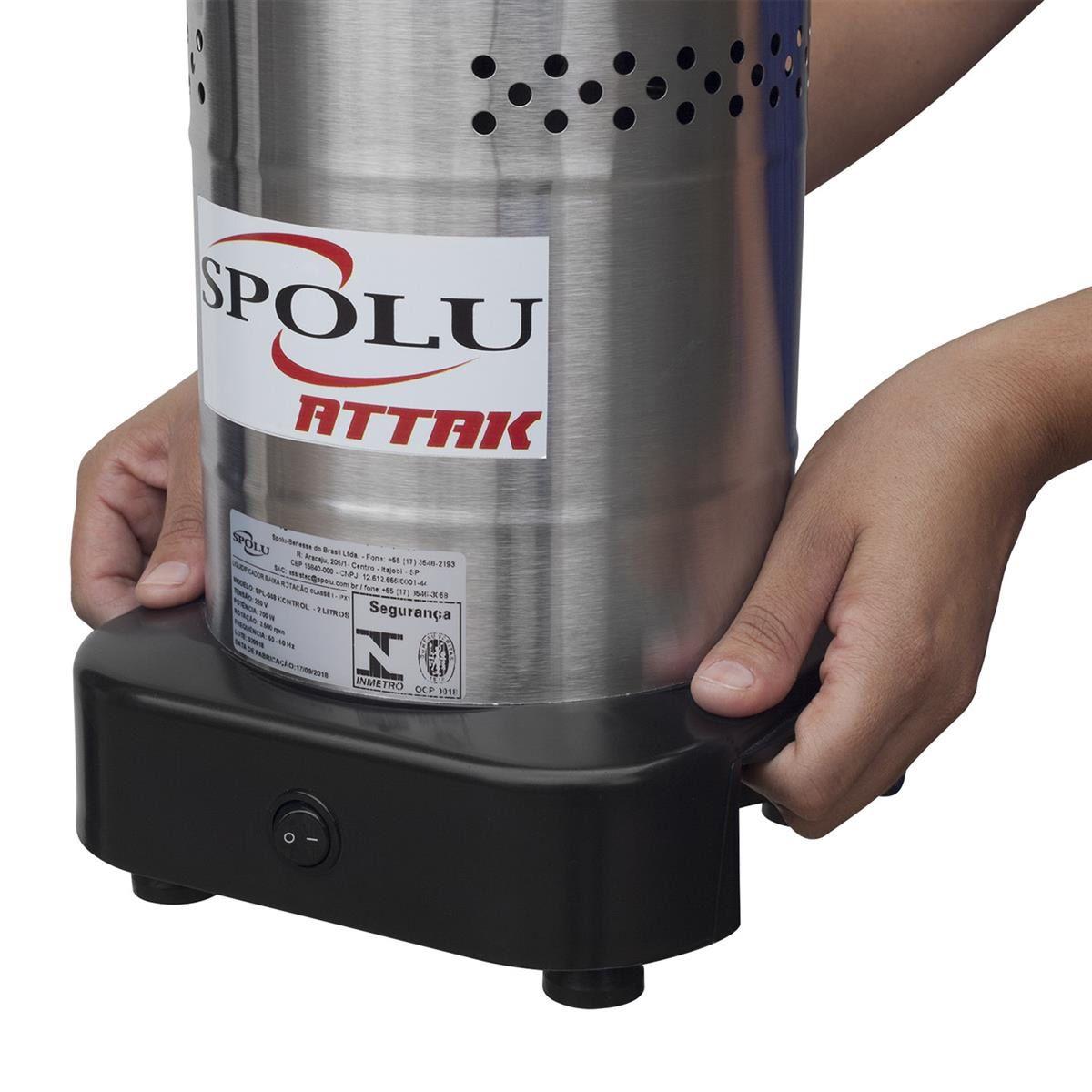 Liquidificador Industrial Spolu Attak 2 Litros Inox Baixa Rotação 220v