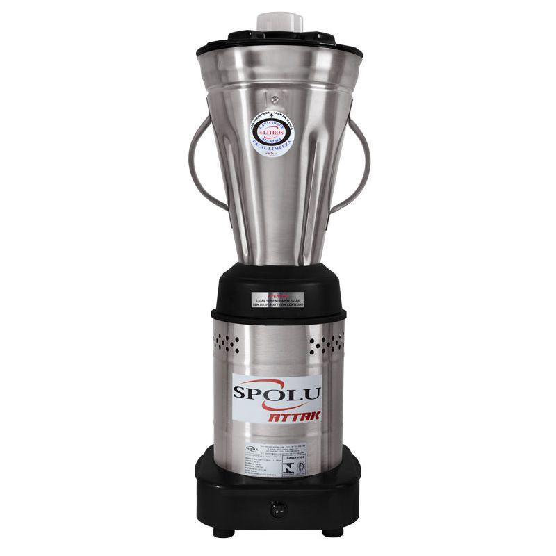 Liquidificador Industrial Spolu Attak 4 Litros Inox 220V