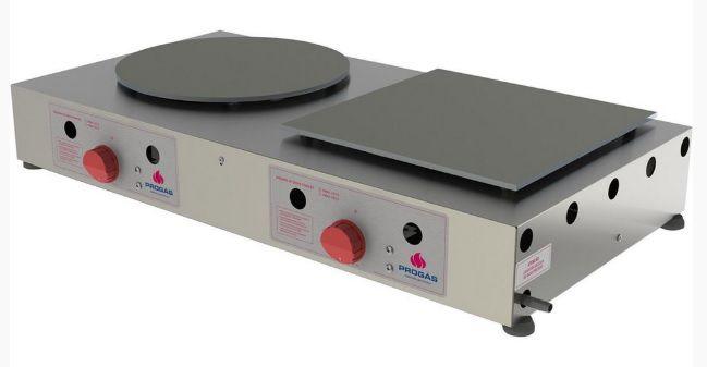 Máquina Crepeira Elétrica Inox 2 Chapas 220V PRKF-202E Progás
