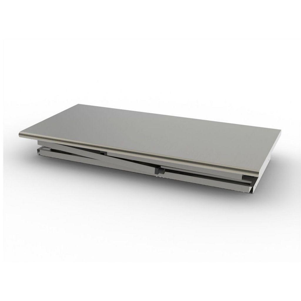 Mesa Bancada Desmontável Em Aço Inox 430 Imeca Com Grade Inferior 1,90x070