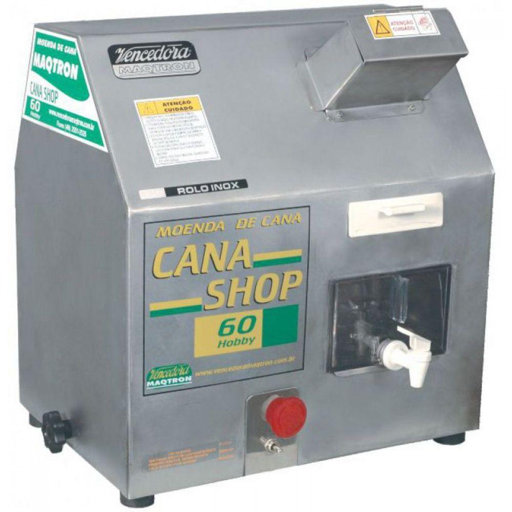 Moenda Cana Elétrica 60 L/H Rolo Em Inox 1/2CV Cana Shop 220V MAQTRON