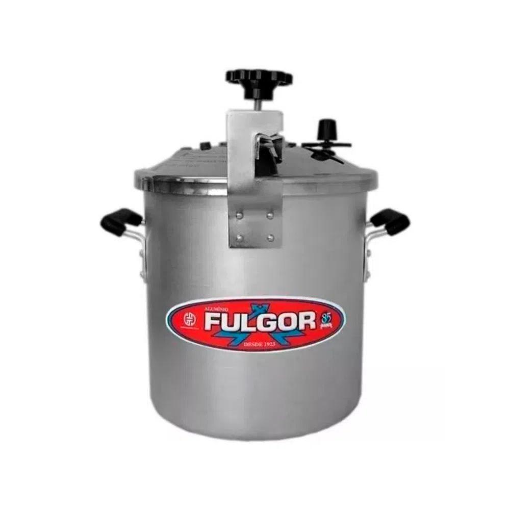 Panela De Pressão Industrial Alça Baquelite 25 Litros Alumínio Express Fulgor