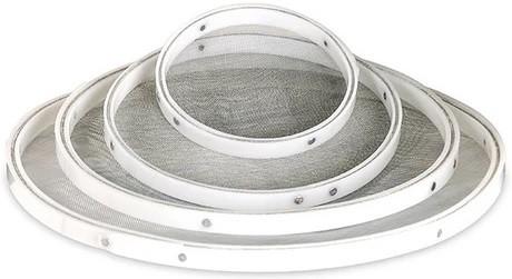 Peneira Aro Plástico Com Tela Em Aço Inoxidável Para Fubá 30cm SOLRAC