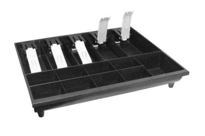 Porta Cédulas & Moedas Com Prendedores Plástico Preto INNAL 37x06x32