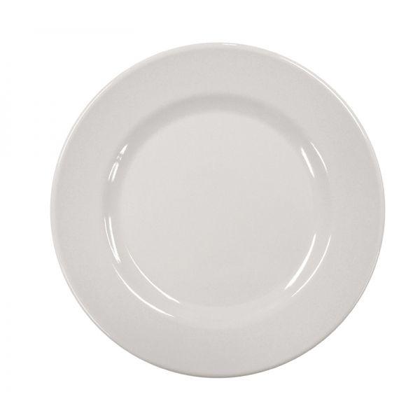 Prato Raso Magno Melamina 26cm Branco