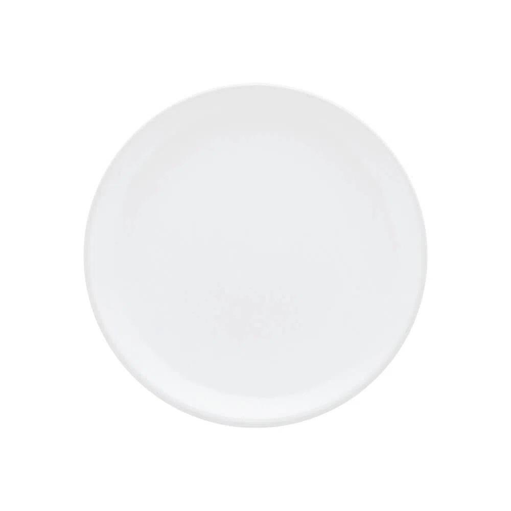 Prato Sobremesa Em Porcelana Redondo 20cm Unni White Oxford