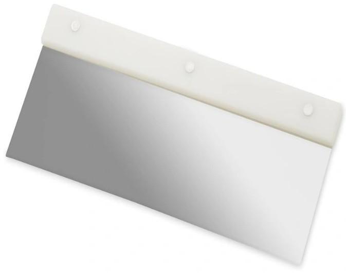 Raspador Espátula Com Cabo Plásrico Lamina Em Aço Inoxidável Para Confeito Branca 20x12cm SOLRAC
