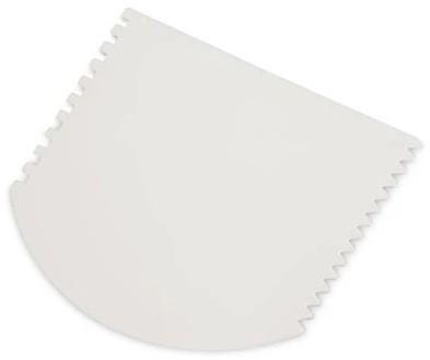 Raspador Espátula Plástica 4 Faces Para Confeito Branca 13x10cm SOLRAC
