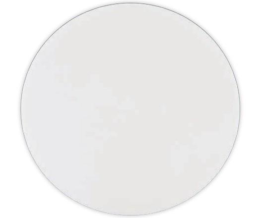 Tábua Plástica De Corte Com Canaleta Para Pizzas Redonda Branco 50x0,6cm SOLRAC