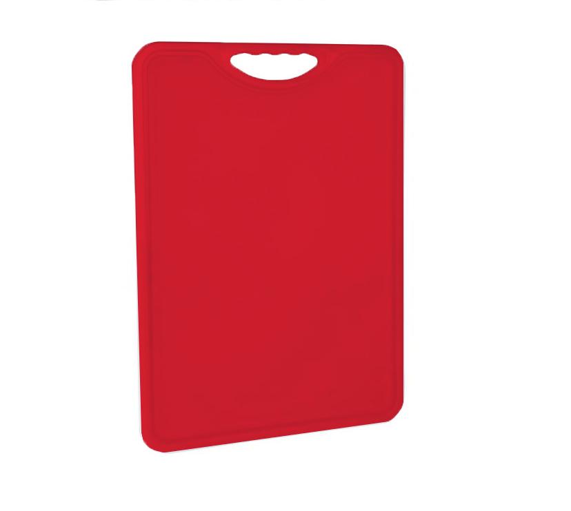 Tábua Plástica Para Corte Antimicrobiana Vermelha Alves Plastic 35x50