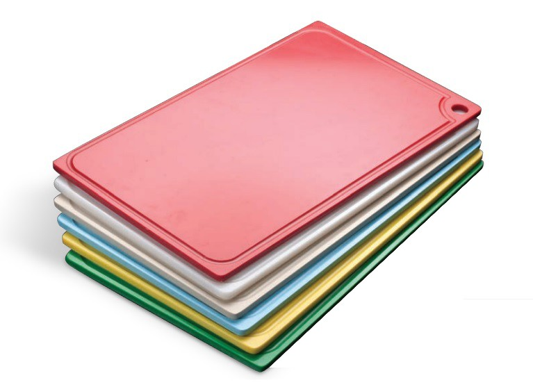 Tábua Plástica Para Corte Com Canaleta Amarelo 40x25x01cm SOLRAC