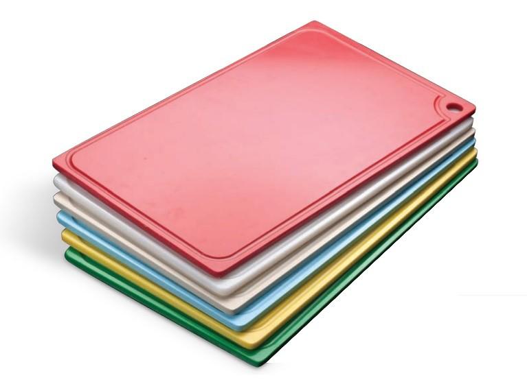 Tábua Plástica Para Corte Com Canaleta Vermelho 40x25x01cm SOLRAC