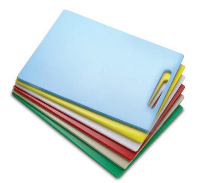 Tábua Plástica Para Corte Com Pegador Vermelho 50x50x01cm SOLRAC