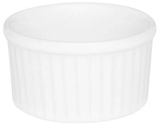 Tigela Pequena em Porcelana 100ml Branco 08cm Ramequin Oxford