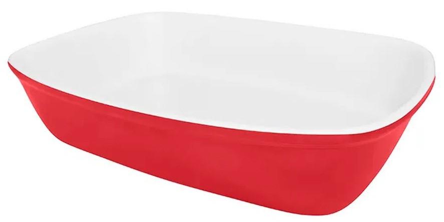 Travessa Refratária Pequena Vermelha 22cm Bake Oxford