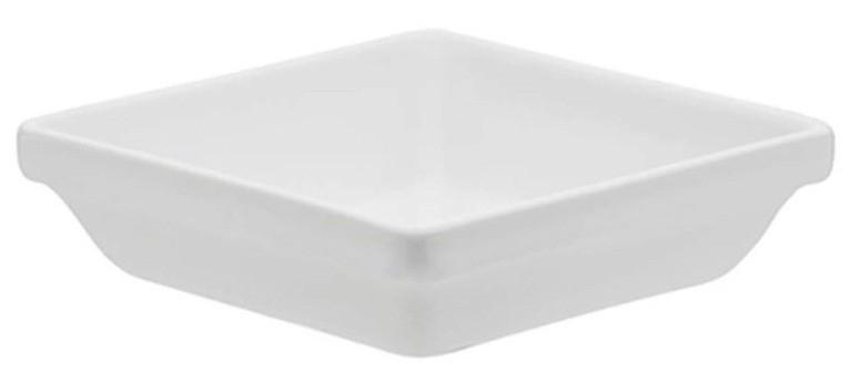 Travessa Refratária Quadrada Porcelana Branco 15cm Oxford