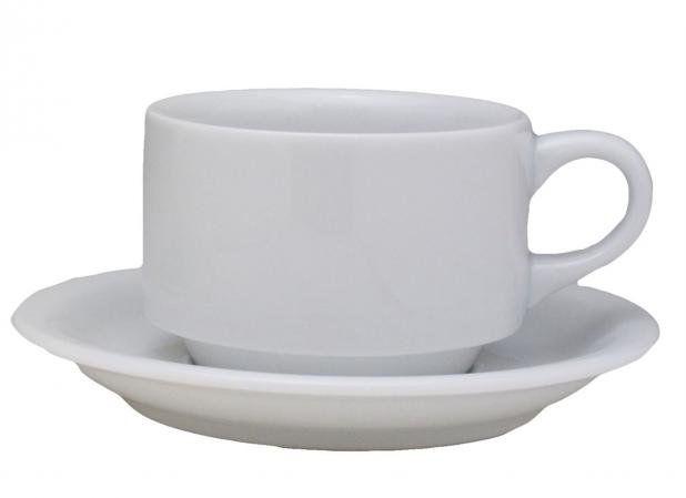 Xícara Em Porcelana Pequena Com Pires 70 ml Branco Bar Hotel Germer 13x05