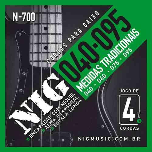 Corda / Encordoamento Nig N700 Baixo - Contrabaixo 4 Cordas